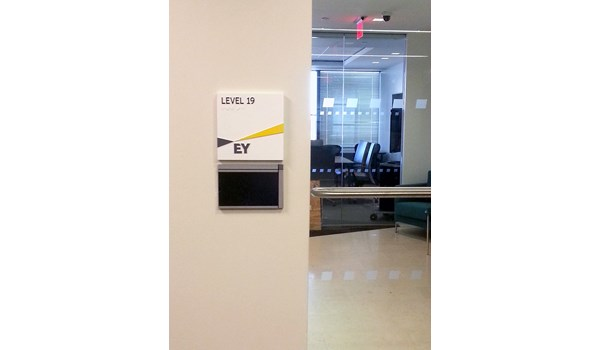 ADA signage and room markers for EY in Hartford, CT