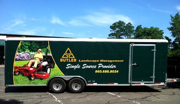Partial trailer wrap for Butler, LLC in Windosor, CT