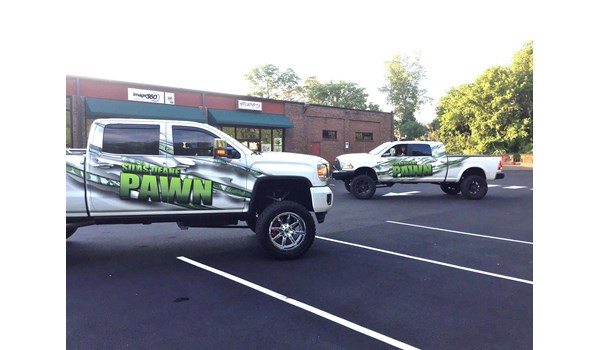 Partial truck wrap for Silas Deane Pawn in Manchester, CT.